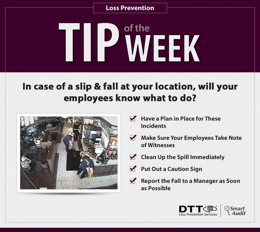 In case of a slip & fall at your location, will your employees know what to do? #DTTLPTips