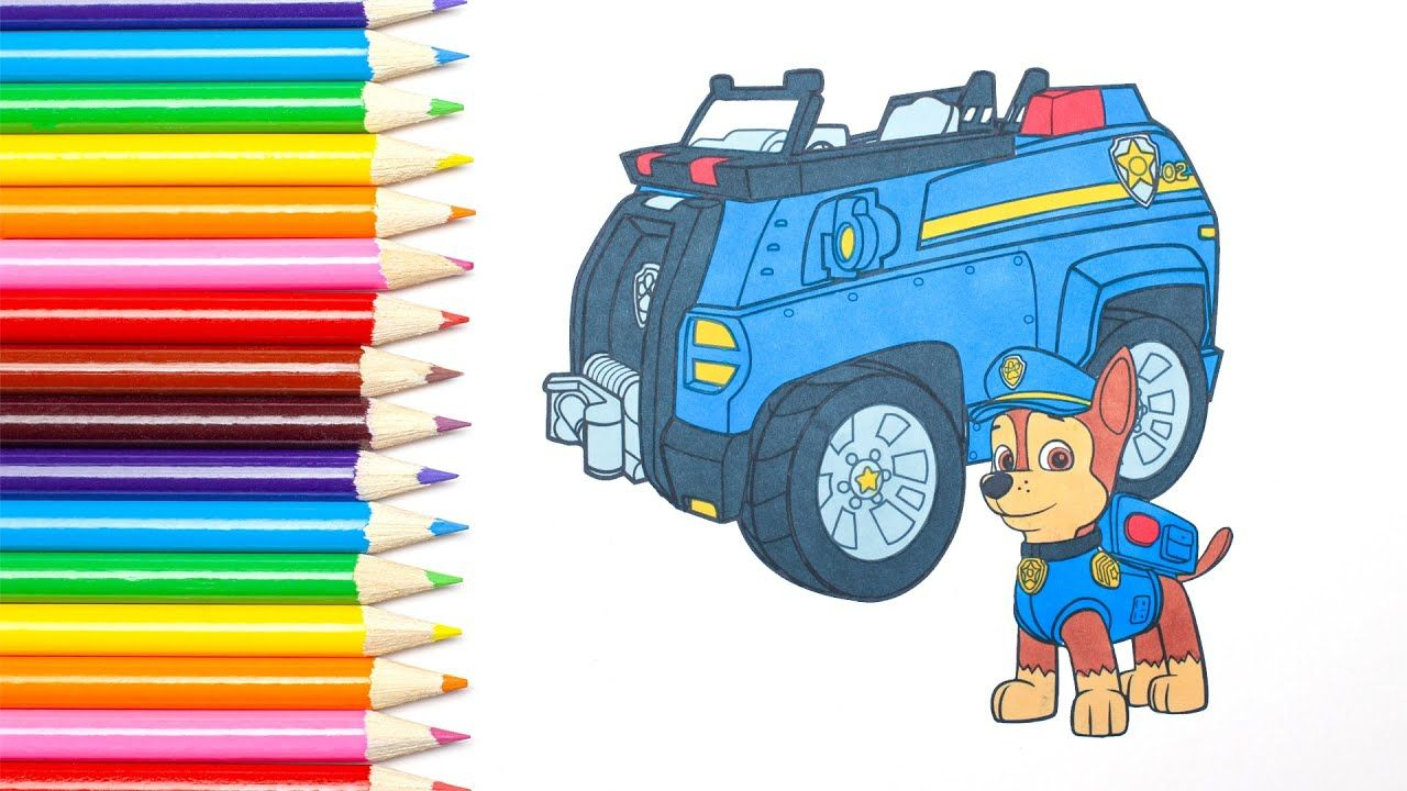Paw Patrol Chase Characters And His Police Car Coloring Book Baby Saf