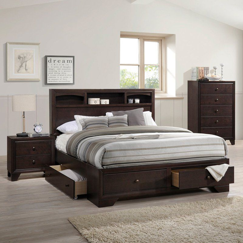 Acme Furniture Madison Storage Bed Size Queen 19560q Storage