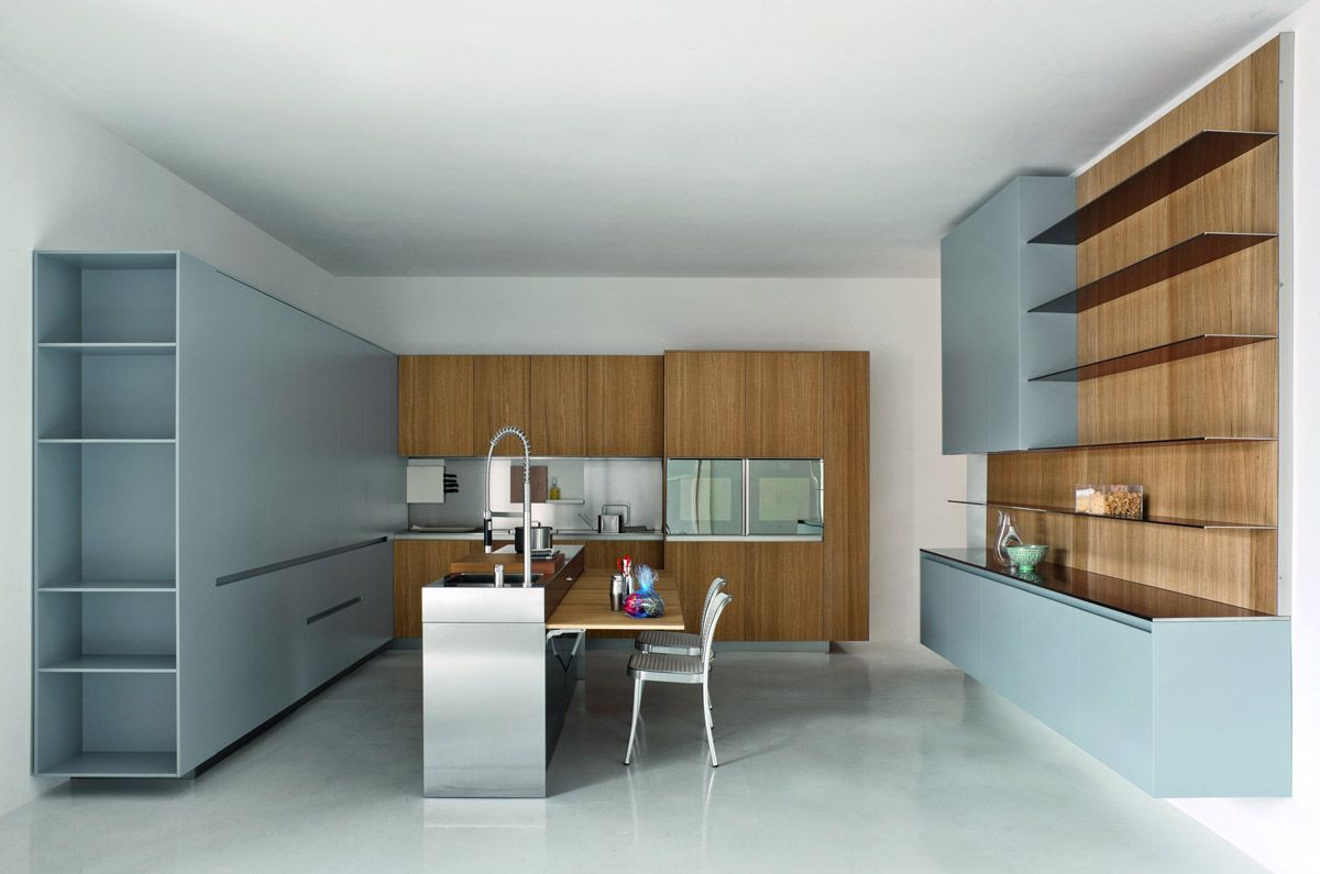 Cucina moderna ad angolo con isola Slim   Elmar Cucine   Cucine ...