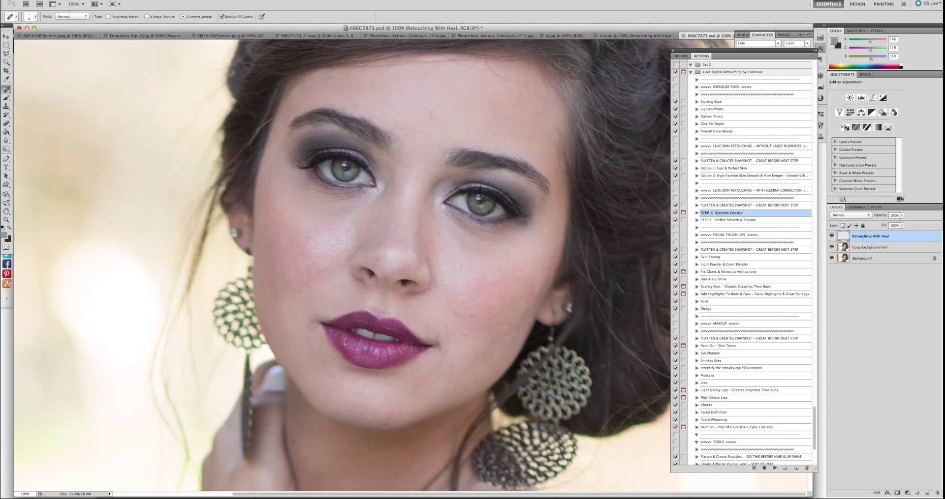 Digital retouching using colorvale actions photography photoshop digital retouching using colorvale actions photography photoshop tutorials baditri Choice Image