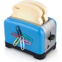 The Notester Blue - Toaster Design Sticky Notes & Sharpener Desk Accessory