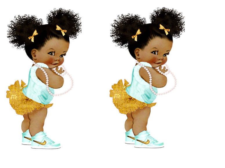 Details About Afro Puff Baby Edible Cake Topper A5 X 2