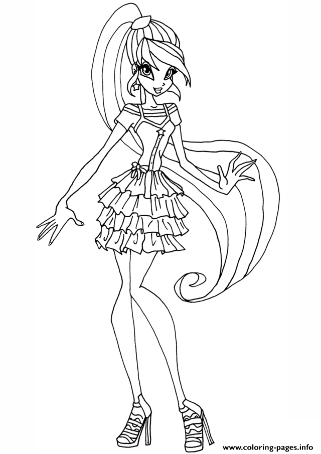 Print Stella Gardenia Winx Club Coloring Pages Coloring Pages Cartoon Coloring Pages Winx Club