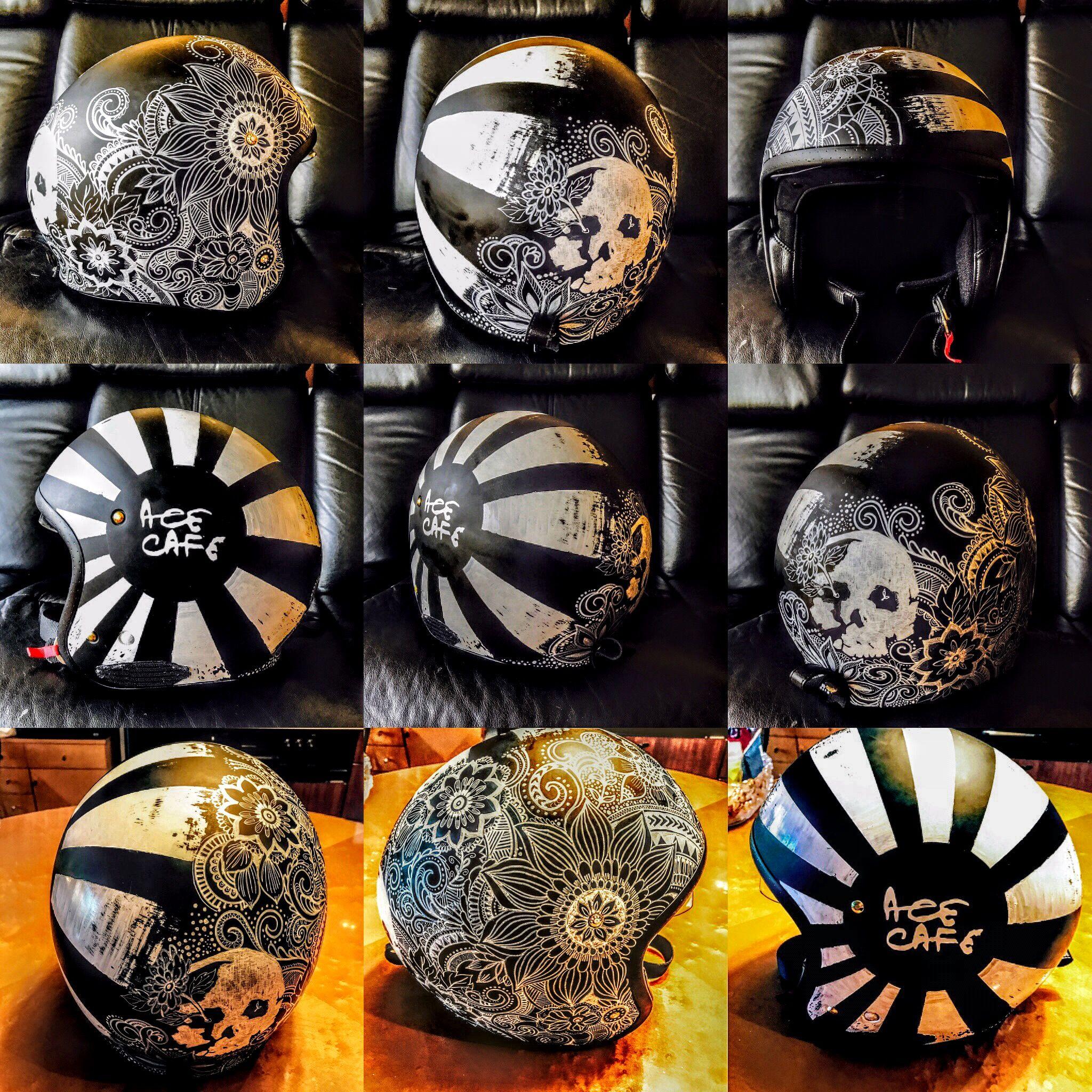 Custom Helmets Gear Inspiration Bobber Chopper Motorcycles Old School Vintage Style Bike Art Motorcycle Helmets Motorcycle Helmet Design Custom Helmets