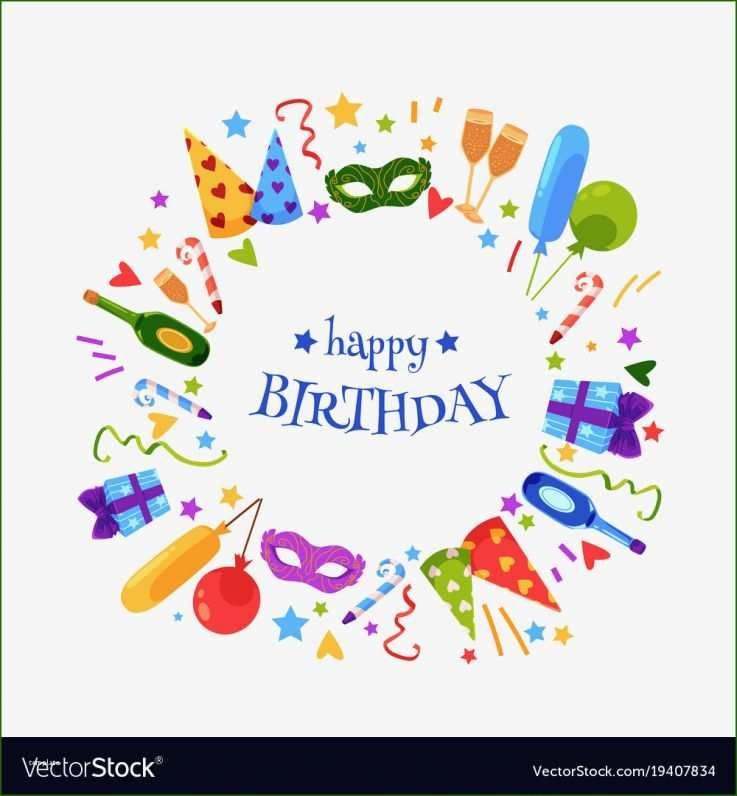 Stunning A Birthday Card Template Vector 2020 Template For Free Birthday Card Template Free Happy Birthday Template Free Birthday Card
