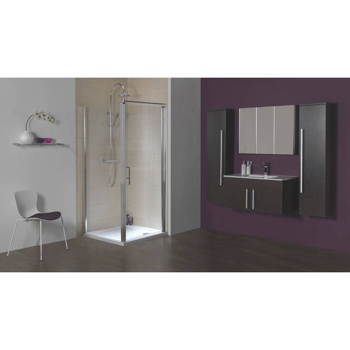 Frameless Hinged Shower Enclosure 760 Now 199 Www Victoriaplumb Com Victoriaplum Com Shower Enclosure Bathroom Suite