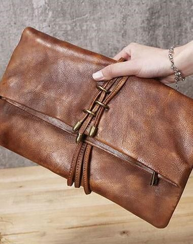 835b8b9f5022 Handmade Leather clutch purse shoulder bag for women leather crossbody bag