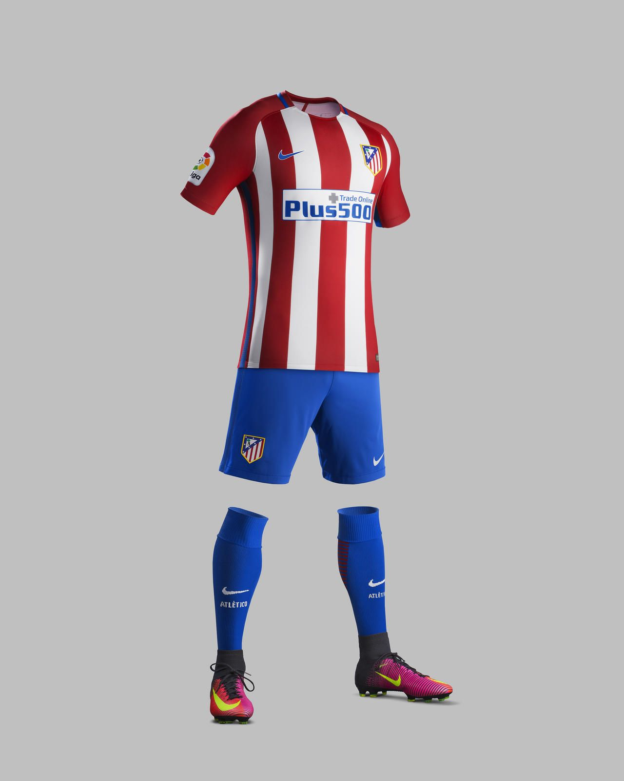 Camisas do Atlético de Madrid 2016-2017 Nike kit 72ad06ff87eb9