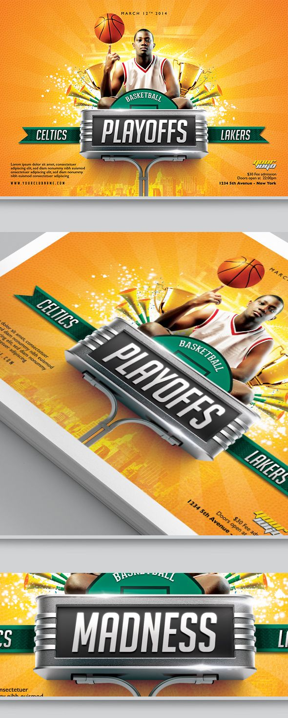 BasketBall Flyer Template By Easybrandz, Via Behance