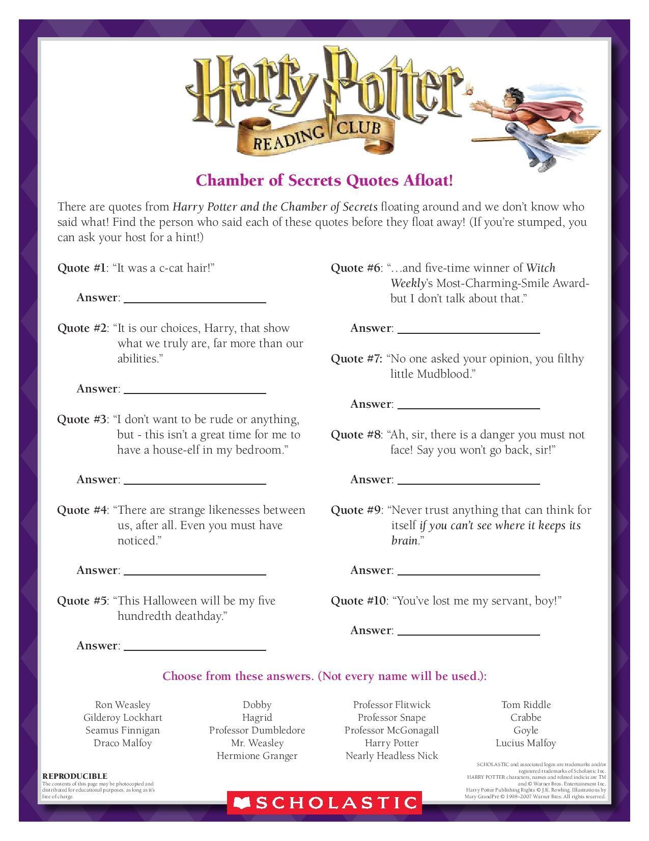 worksheet Harry Potter Worksheets free harry potter worksheets and printables homeschool inspiration pinterest free