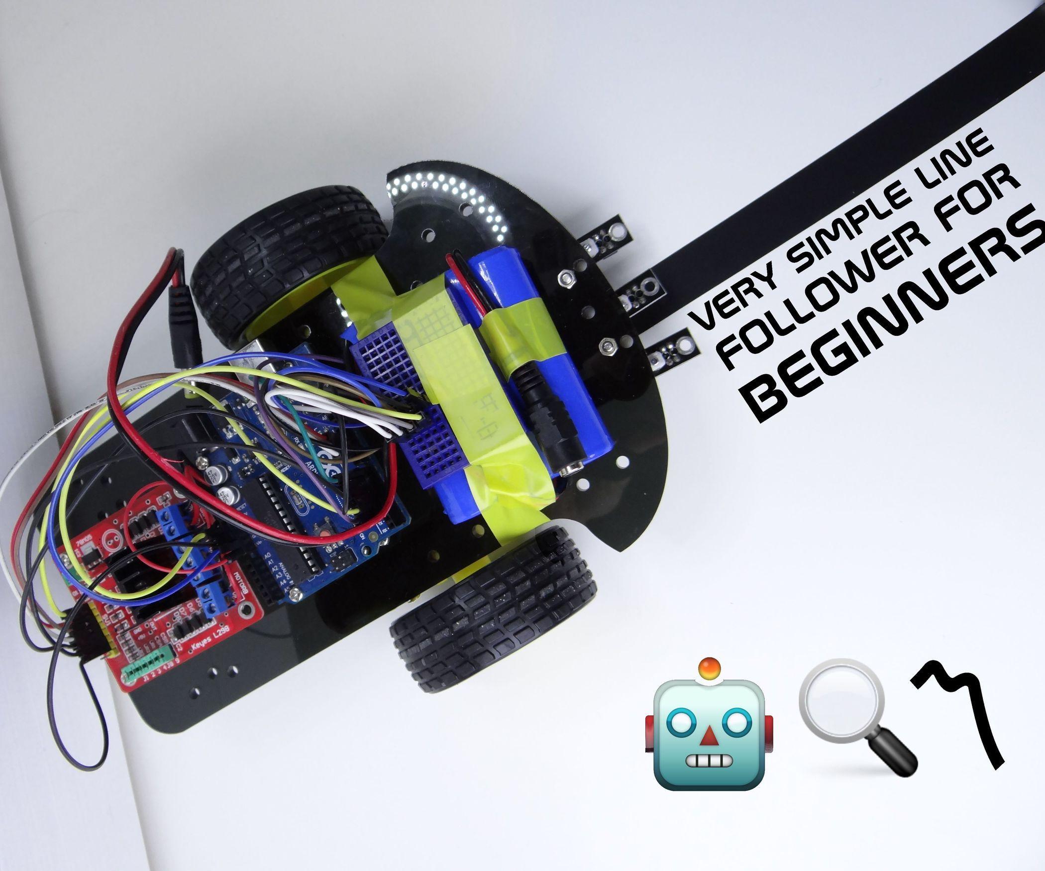 Very Simple Line Follower for Beginners | Arduino