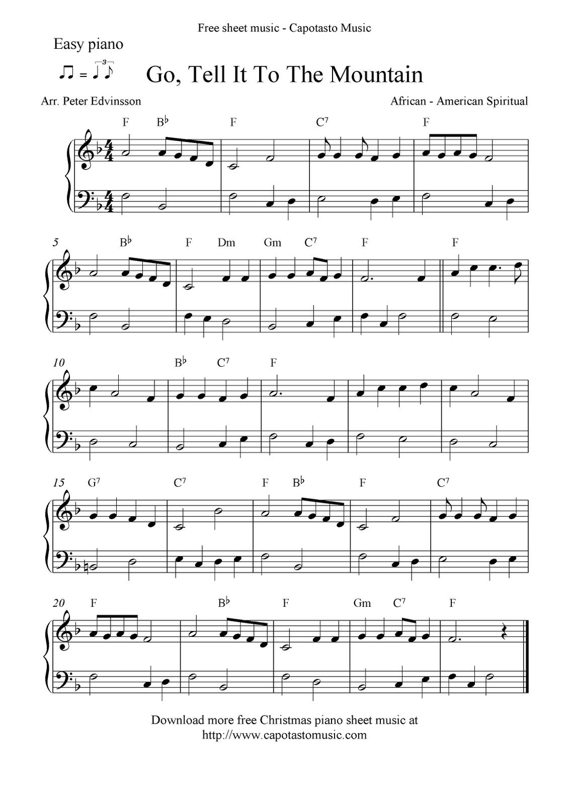 Free Printable Piano Sheet Music Free Sheet Music Scores