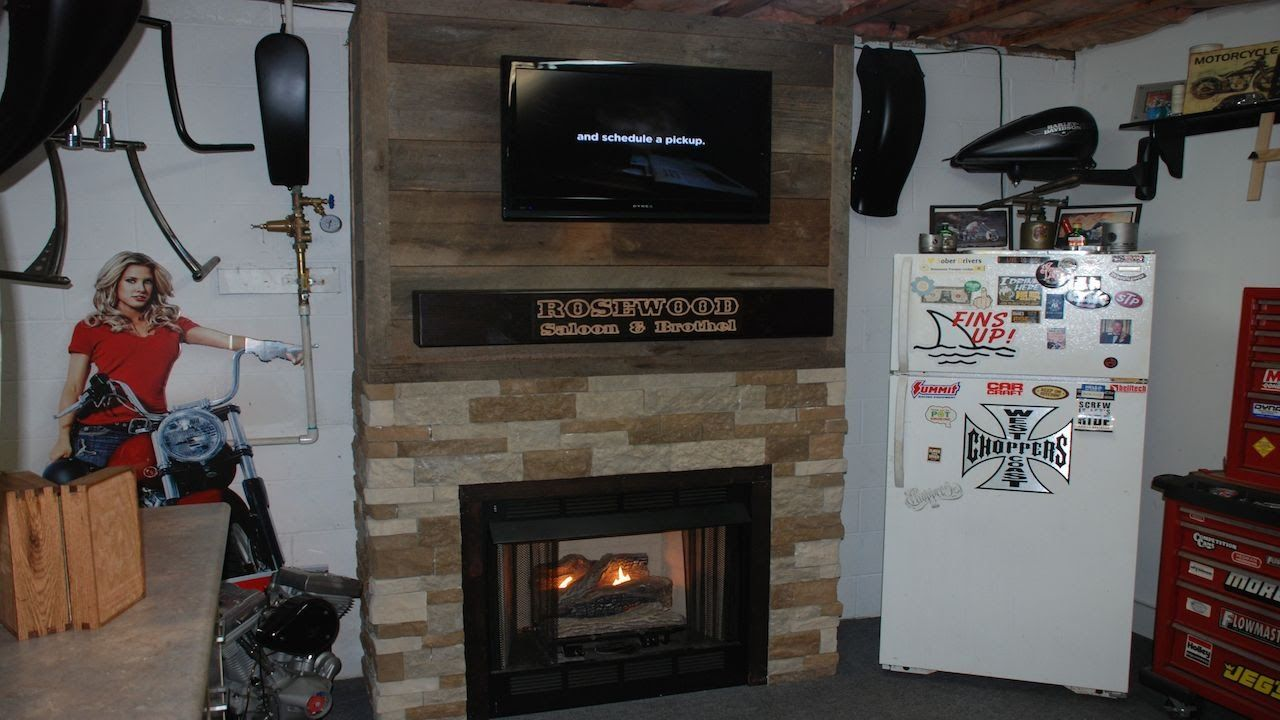 Build a fireplace surround with reclaimed barnwood youtube my