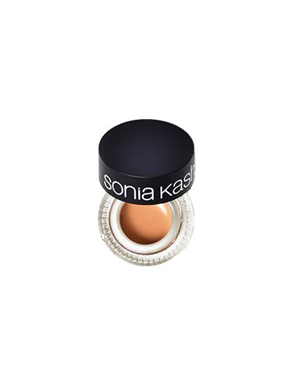 Sonia Kashuk All Covered Up Concealer To camouflage smaller imperfections (think one particular dark spot or blemish), the thicker, less liquid-y consistency of potted concealers is ideal. This one not only offers targeted coverage but also has just the right finish—not too shimmery, but also not totally flat and matte. It can be tricky to get out the proper amount using your finger, so consider using a brush with this one.