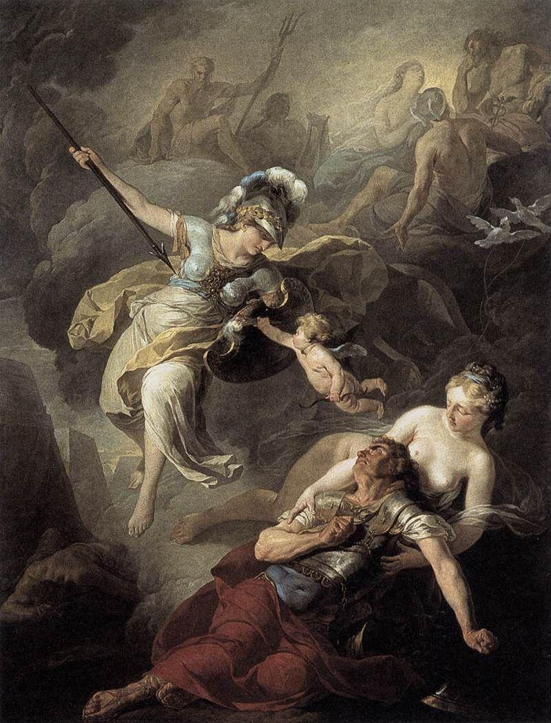 Suvee Joseph Benoitthe Combat Of Mars And Minerva1771oil On