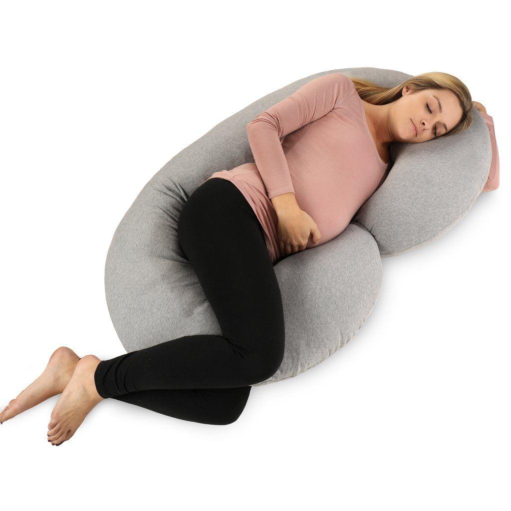 Pillow C Shape Jersey Grey