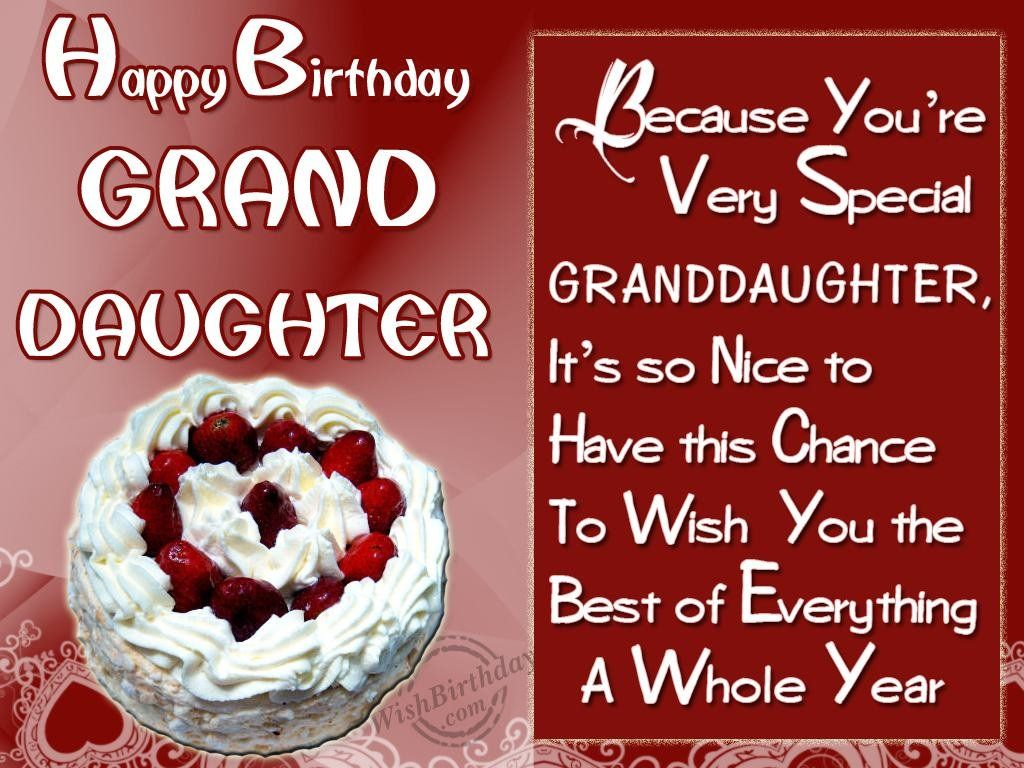 Great birthday wishes for granddaughter wishing you happy birthday greetings kristyandbryce Gallery