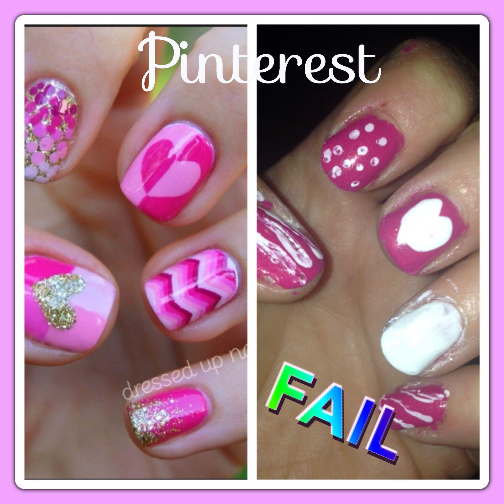 Pinterest #Fail Valentine Nails #PinterestFail | Pinterest FAIL ...