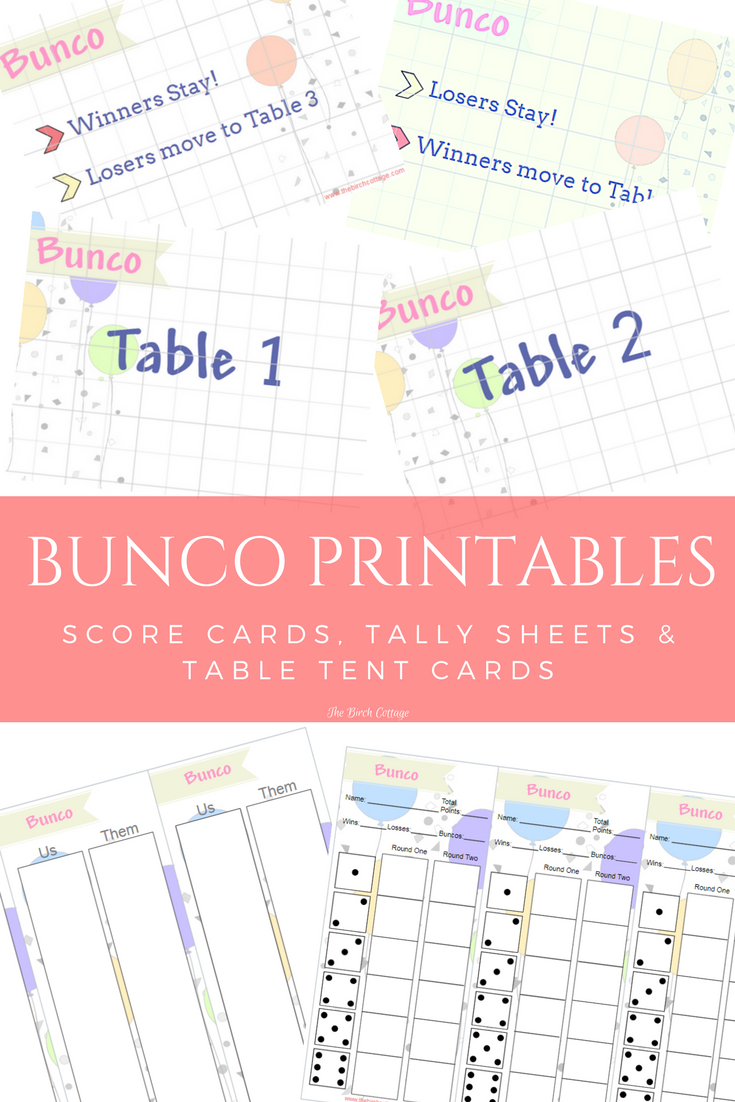 photo about Printable Bunco Table Tally Sheets known as Perform Bunco with Printable Bunco Ranking, Tally Tent Playing cards