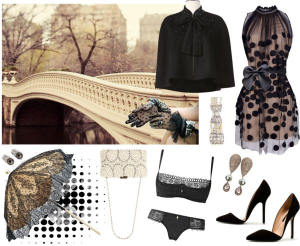 """""""dotted elegance"""" by snuskie ❤ liked on Polyvore"""