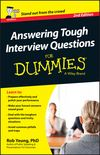 Answering Tough Interview Questions For Dummies, 2nd Edition (1118679946) cover image
