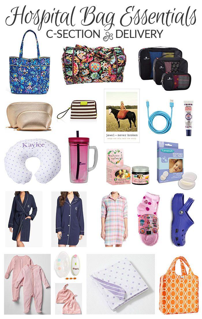 Hospital Bag Essentials C Section Delivery Includes Natural Er Via Prettyneatlivng