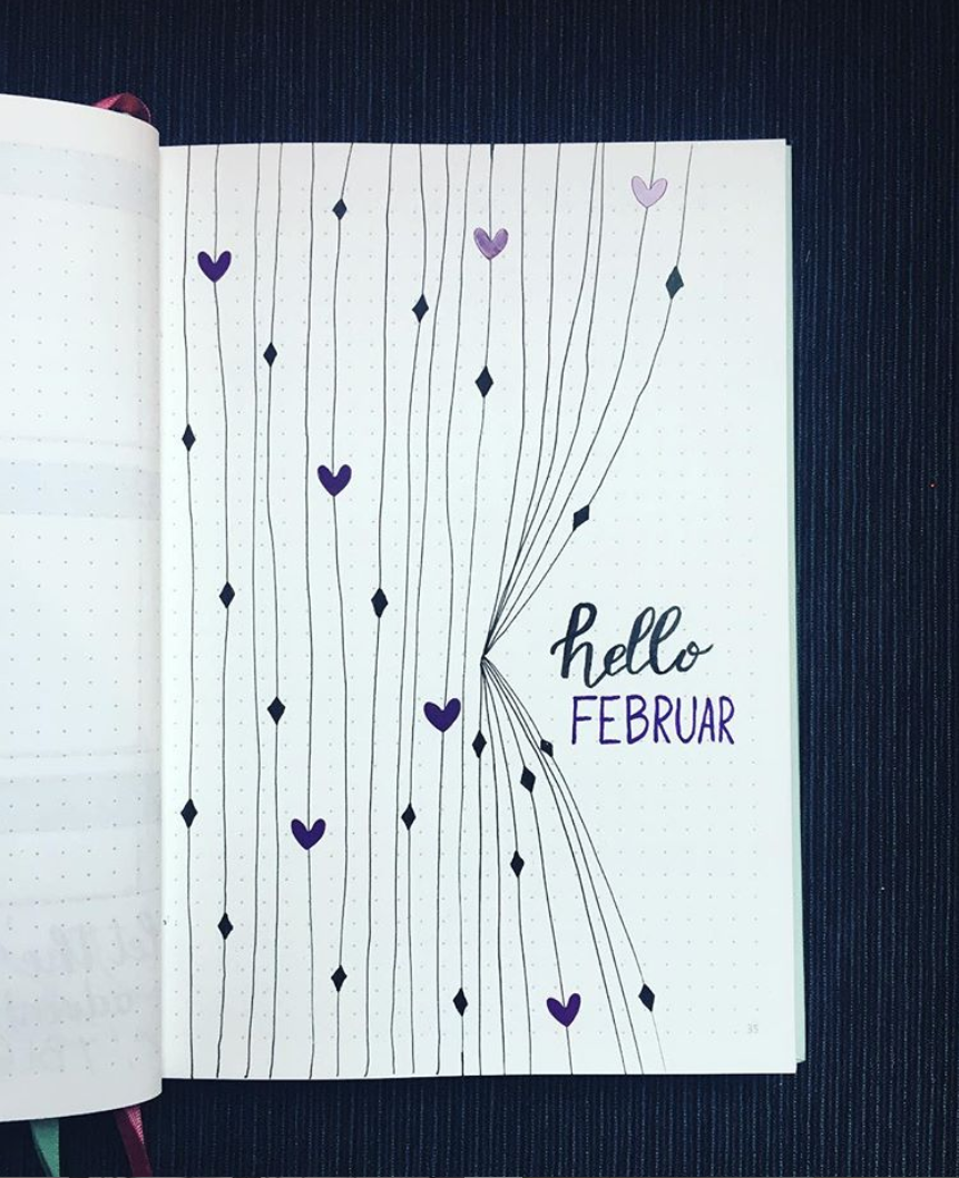 Bullet Journal Spreads for February Bullet Journal Spreads for February