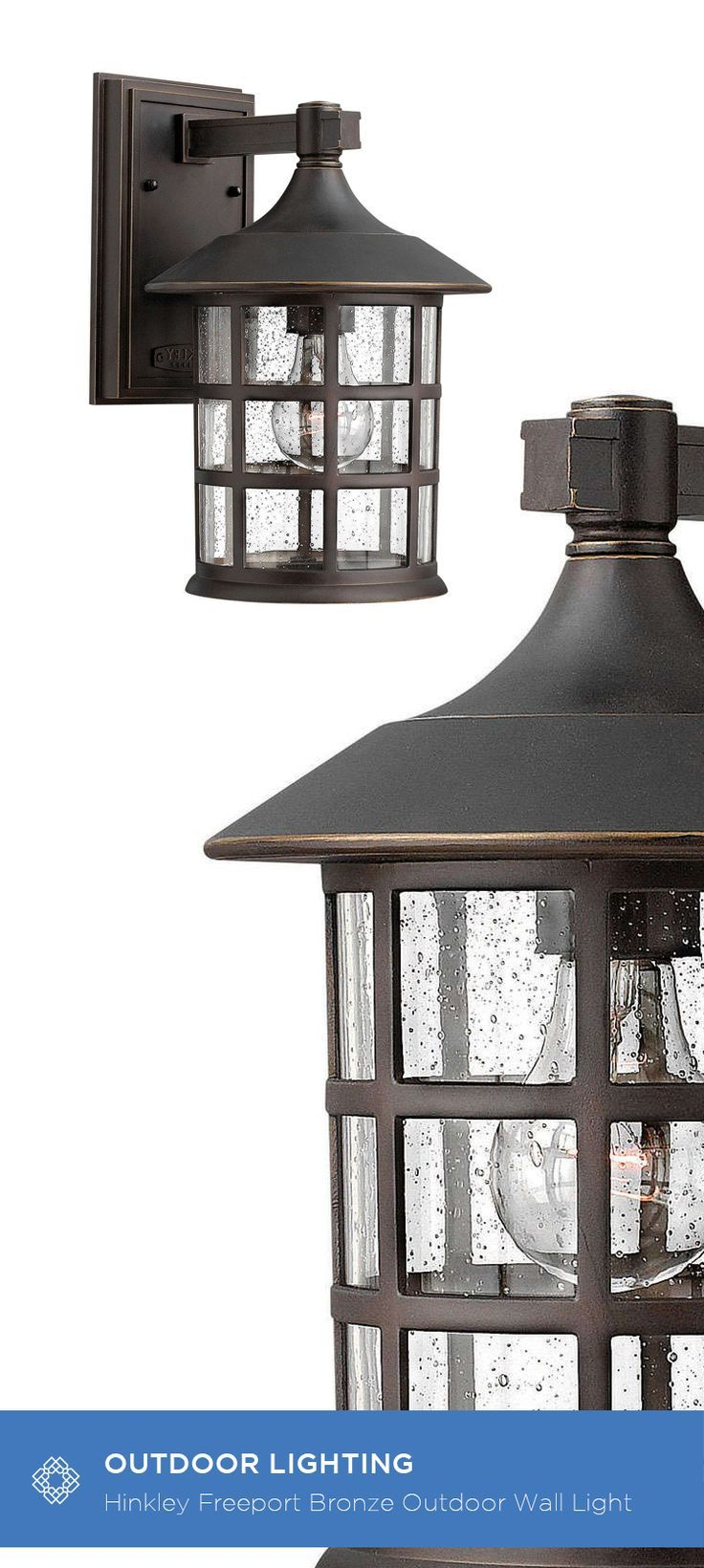 Hinkley Freeport Oil Rubbed Bronze One Light Medium Outdoor Wall Finish And Construction