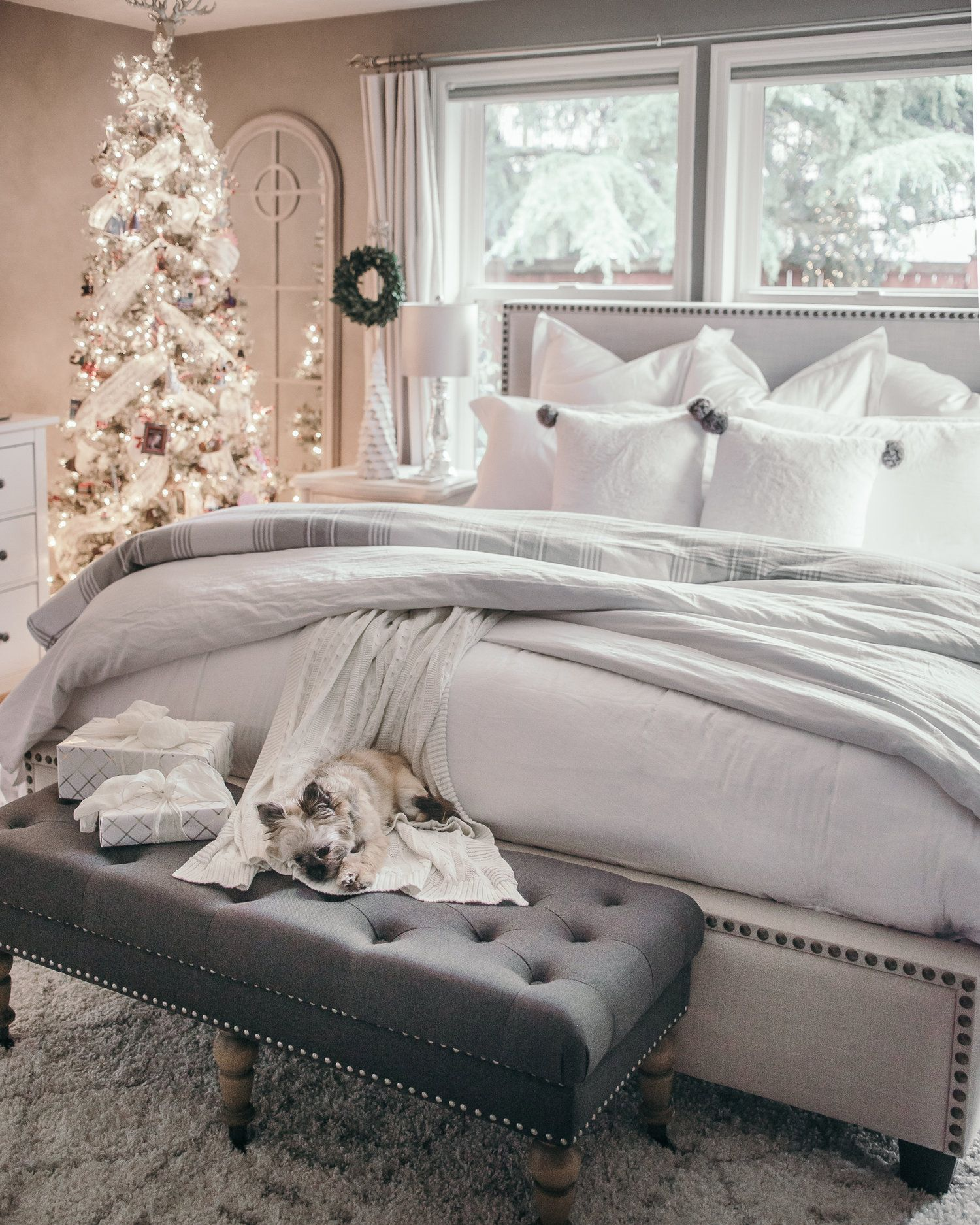 Christmas Decor Ideas House Of Five Master Bedroom Winter Bedroom Decor Christmas Bedroom Winter Bedroom