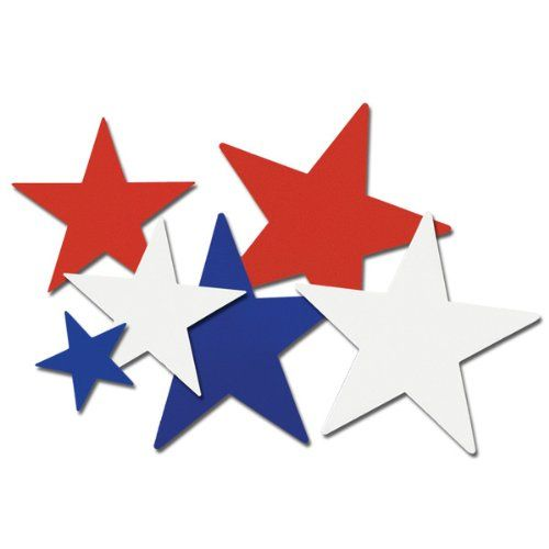 Beistle 55835 10-Pack Star Cutouts, 5-Inch