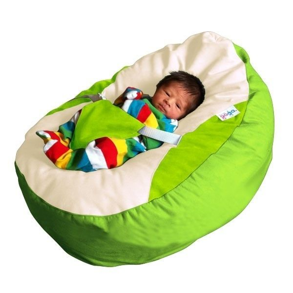 Awe Inspiring Gaga Lime Green Baby Bean Bag With Safety Harness Baby Machost Co Dining Chair Design Ideas Machostcouk