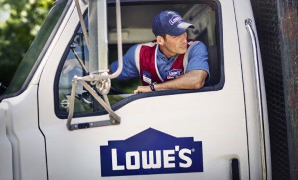 Man In A Lowe S Delivery Truck Ktchn Liances Lowes