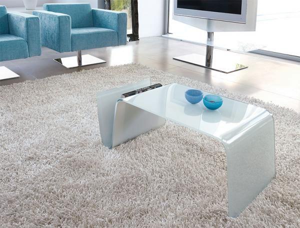 Unico Italia Virgola Curved Glass Coffee Table #coffeetable #glasscoffeetable #modernfurniture
