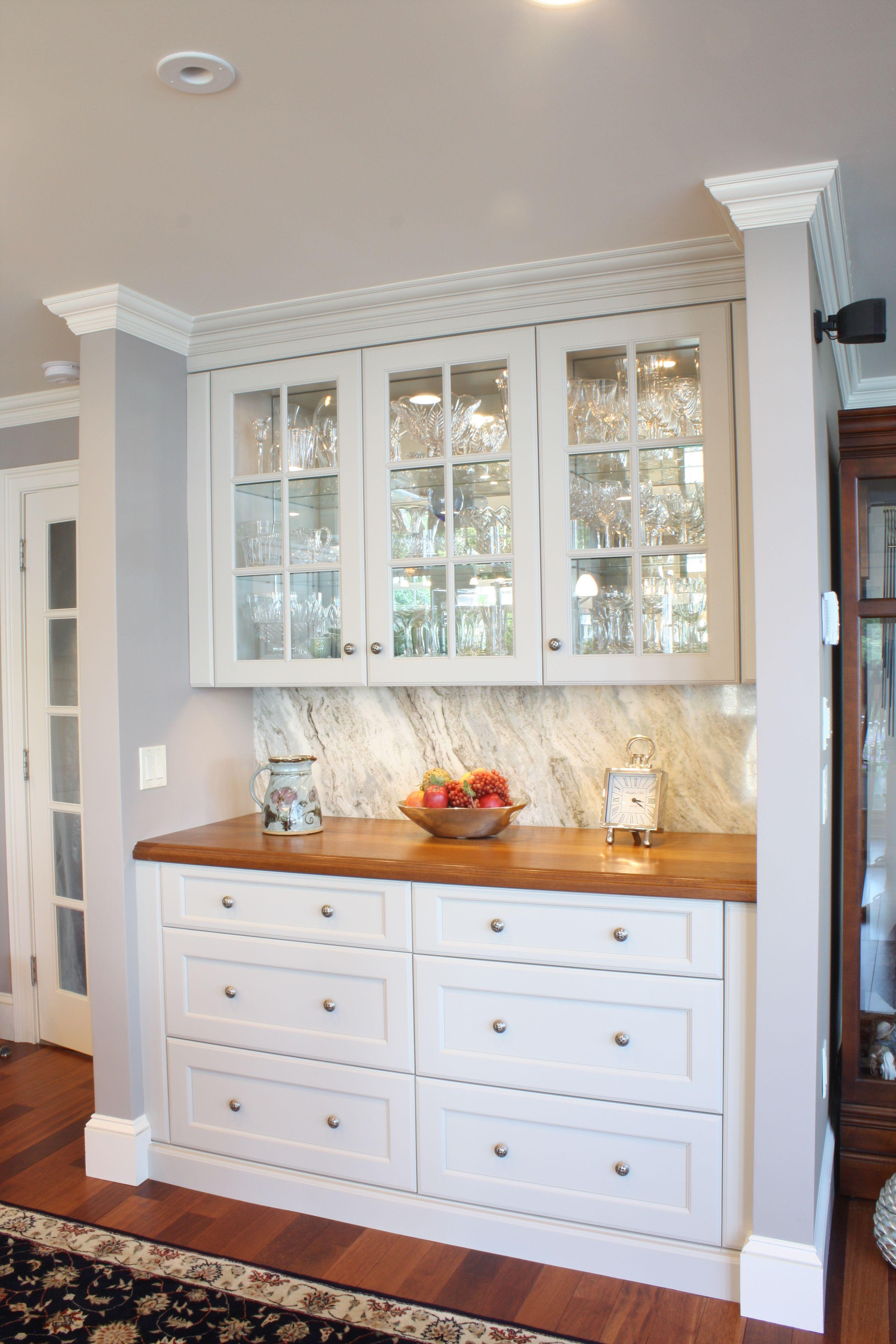 Kitchen Hutch glass display wall cabinets wood