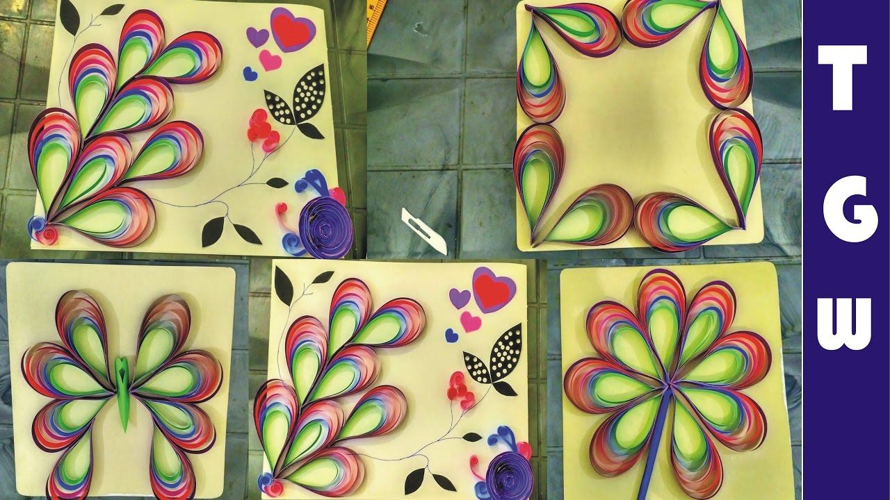 amazing paper quilling patterns and designs for decoration part 2 ...
