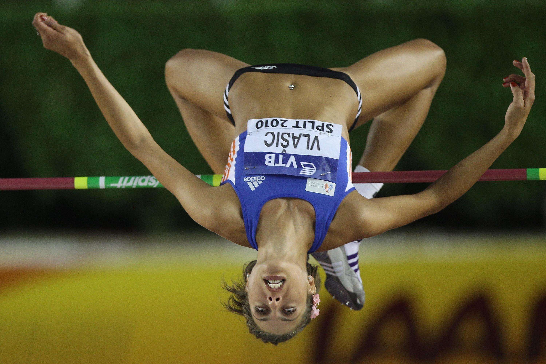 Blanka Vlašić ( croatie ): Double championne du monde en saut en hauteur , lors des mondiaux 2007 à Osaka et de 2009 à Berlin,