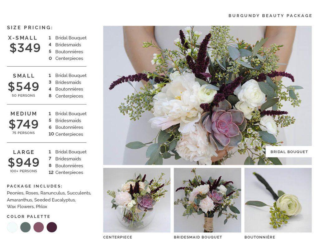 Burgundy Beauty Wedding Flower Package by Kukka Flowers The Kukka