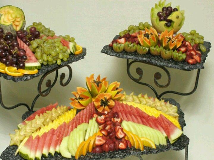 Fruit buffet set up   Make it look pretty.....   Pinterest   Fruit ...