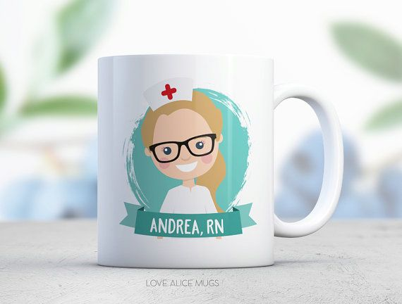 Nurse Gift Custom Illustration Medical Graduation By Lovealicemugs