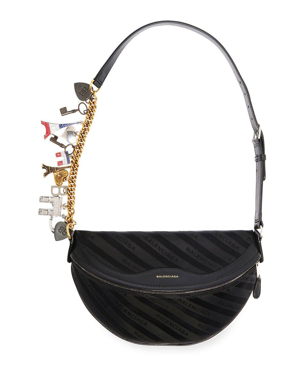 627bdb626ce665 Details about Balenciaga Souvenir Xs Patent Belt Bag, Black in 2019 ...