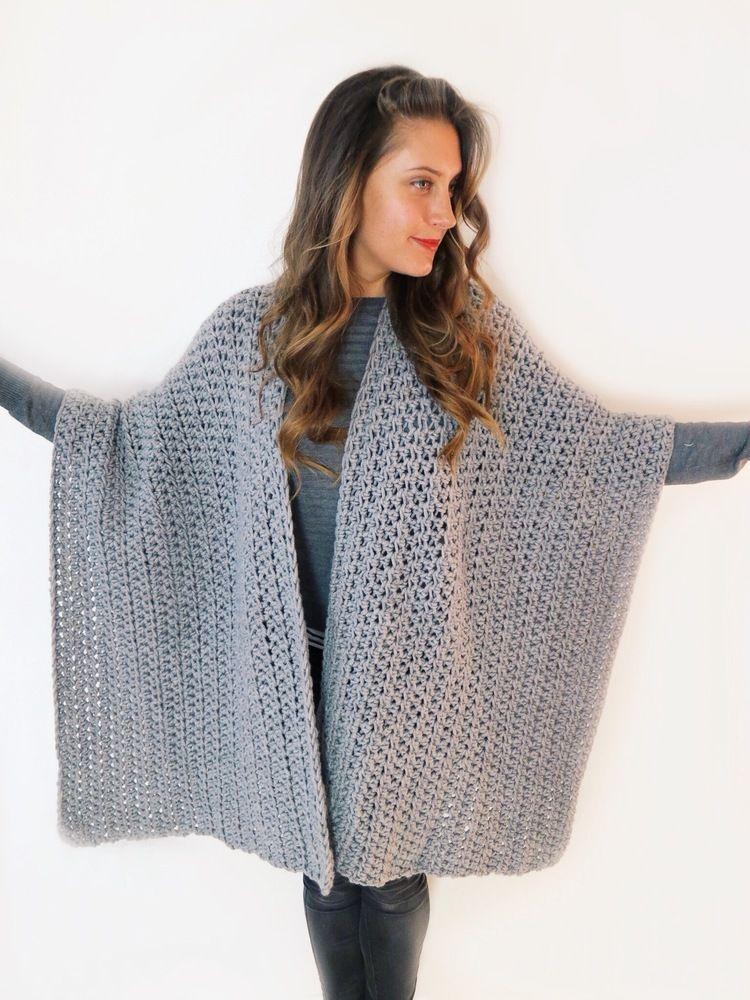 Blanket Ruana Pattern | Tejido en crochet y Tejido