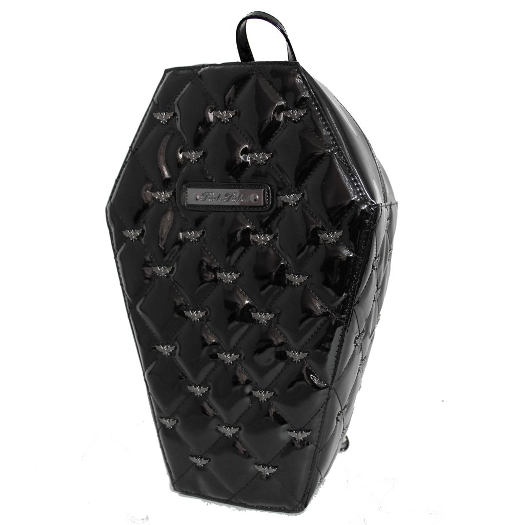 Rock Rebel Mina Quilted Coffin Backpack Black