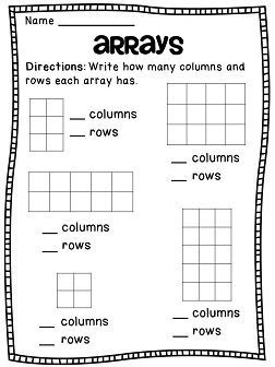 Addition and Arrays (Grade 2)