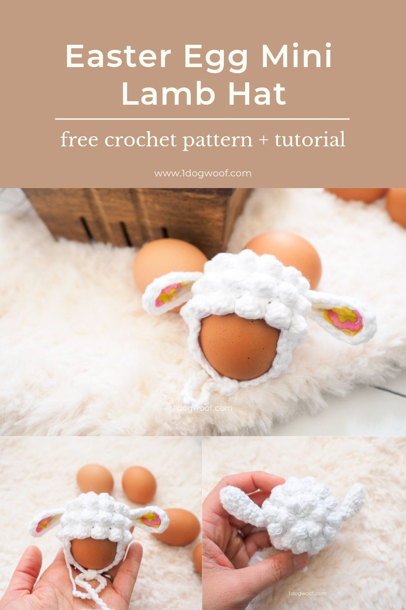 Easter Egg Lamb Hat Crochet Pattern #eastercrochetpatterns