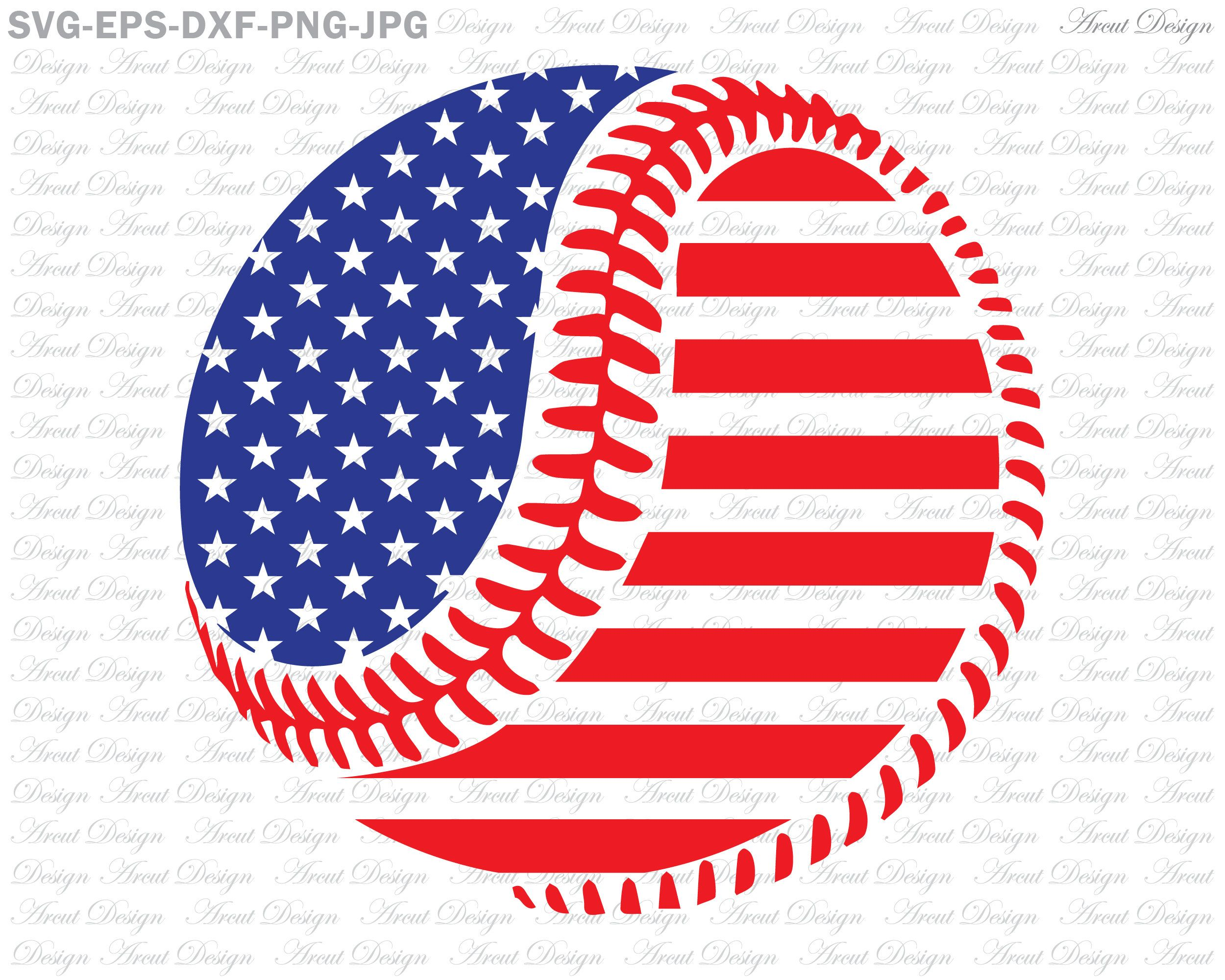 Baseball Svg, 4th of july svg, american flag svg, fourth