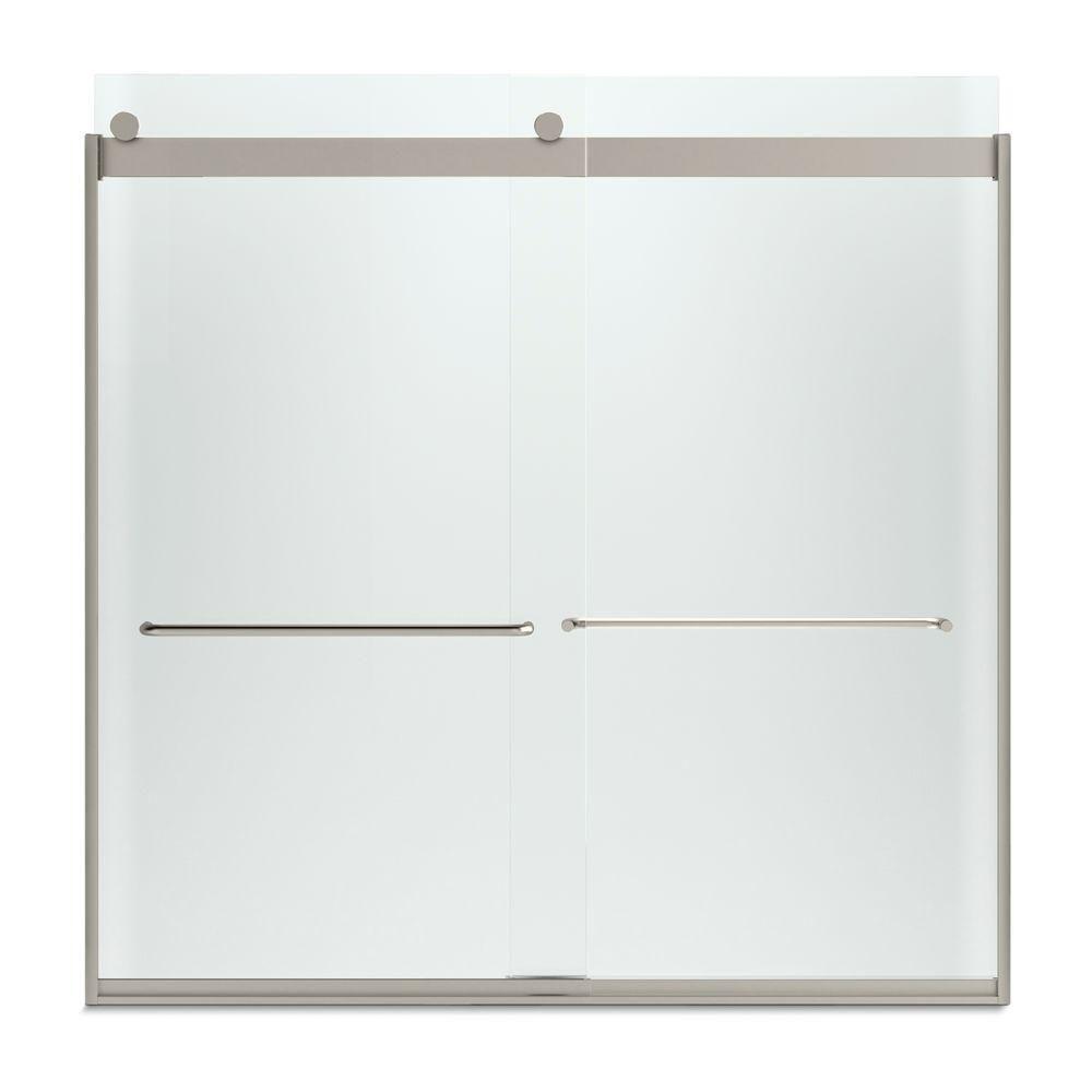 Kohler Levity 57 In X 59 34 In Semi Frameless Sliding Tub Door