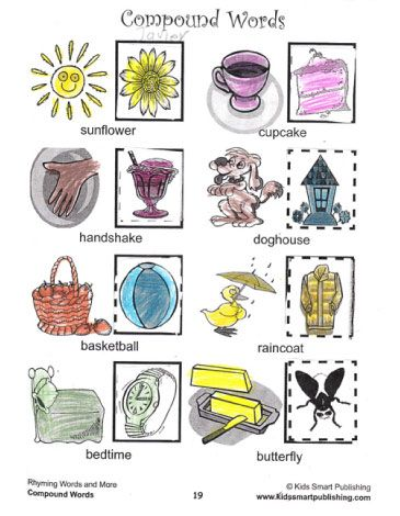 Kids Love To Learn Compound Words With These Fun Cut And Paste Compound Words Worksheets