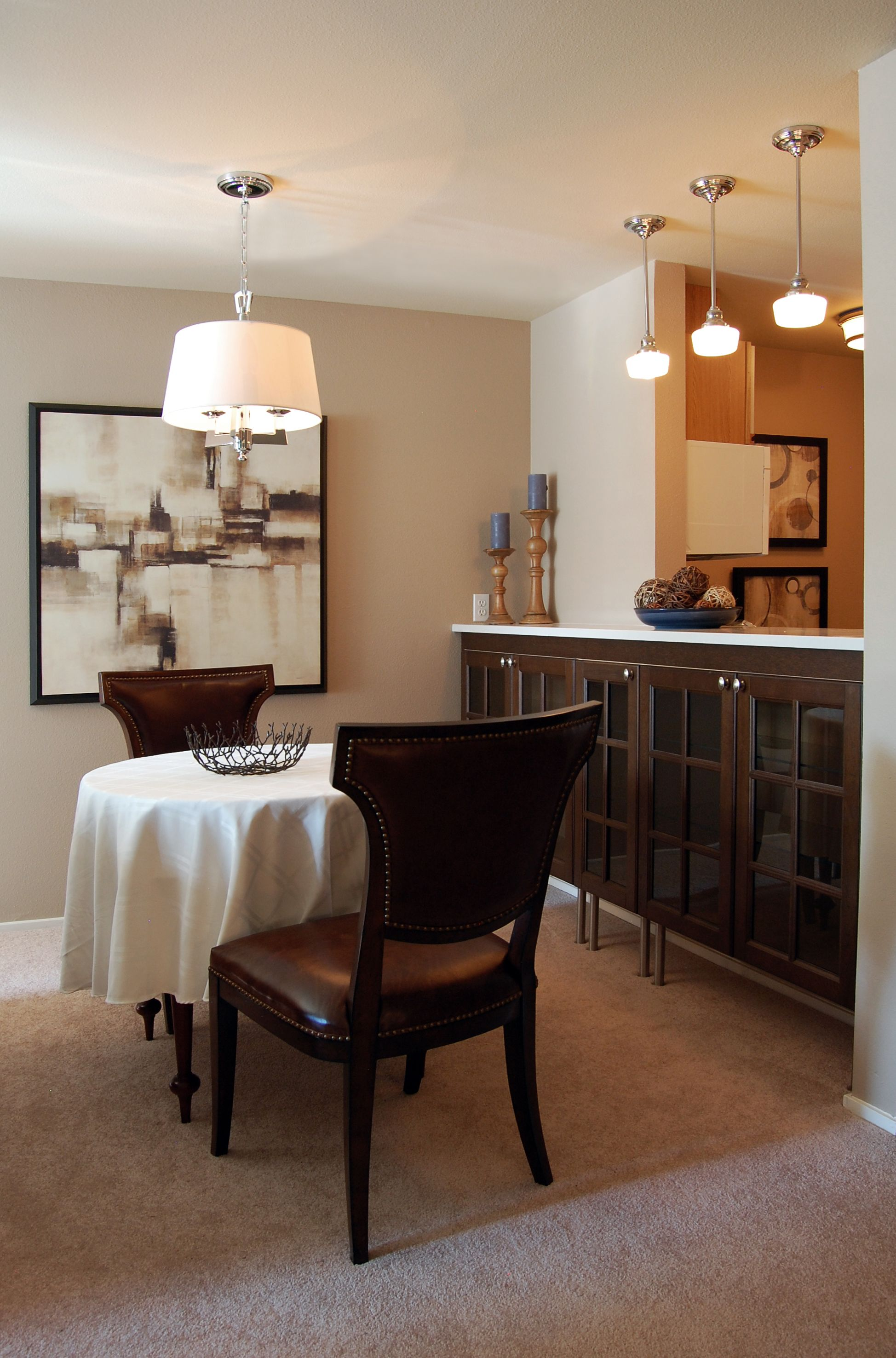 Dining Room I Took Out The Cabinets Spanning Pass Through To Open Up Kitchen Turned Former Eating Bar Into A Functional