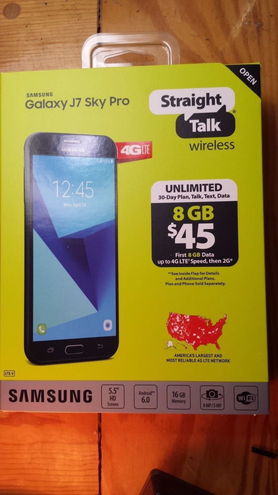 Straight Talk Samsung Galaxy J7 Sky Pro 16GB Verizon Towers